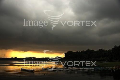Sunset / sunrise royalty free stock image #744073656