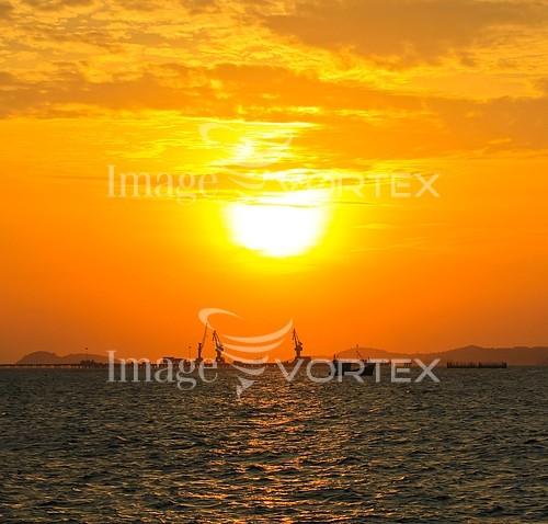 Sunset / sunrise royalty free stock image #969743496